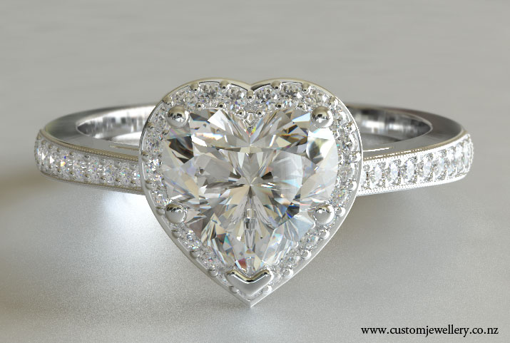 Modern engagement ring for young Heart diamond ring price